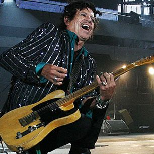 In his 41 w/Rolling Stones, Keith Richards has created, and immortalized on record, rock's greatest single body of riffs—including the fuzz-tone SOS/uppercut power chords/black stab/strum & slash. Richards is not a fancy guitarist; his style is a simple, personalized extension of his teenage ardor for Chuck Berry/Muddy Waters/Howlin' Wolf. Richards is routinely hailed as the most indestructible of rock stars, but he credits his music with giving him life. --Rolling Stone