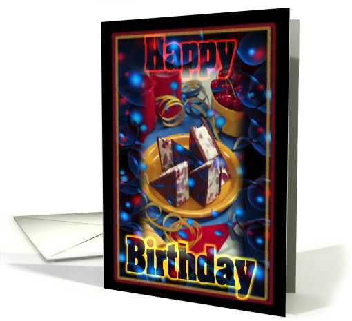 Happy Cake Ice Cream Birthday Card 488472 Buy Customized