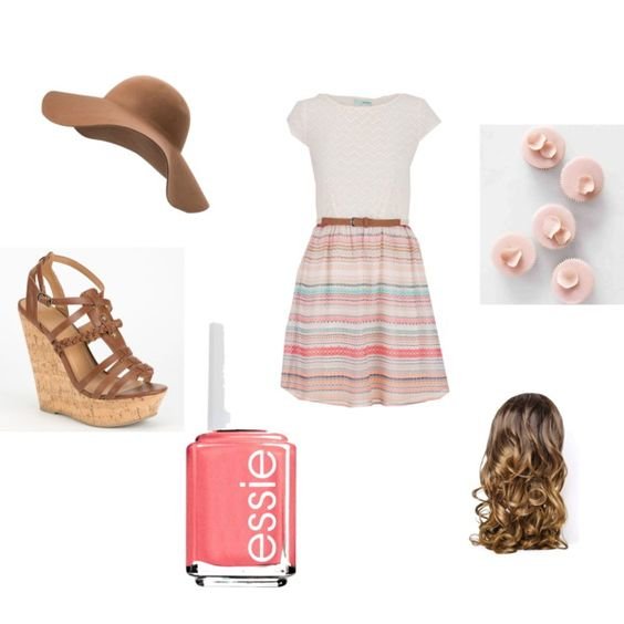 I love summer by magicandpeanut on Polyvore featuring maurices, Delicious, MANGO, Essie and Lipsy