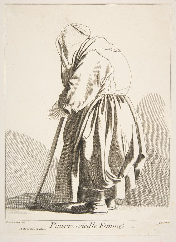Anne Claude Philippe de Tubières, Comte de Caylus, After Edme Bouchardon: A Poor Old Woman; 1742.: