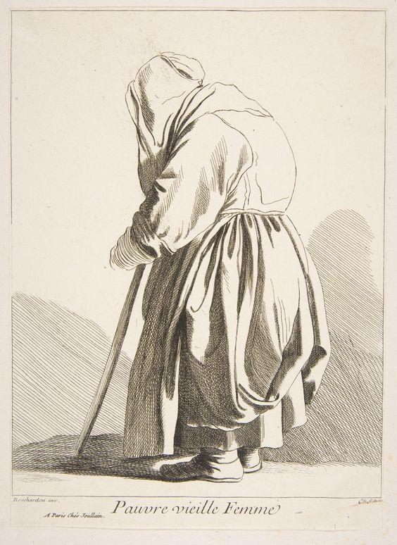 Anne Claude Philippe de Tubières, Comte de Caylus, After Edme Bouchardon: A Poor Old Woman; 1742.: