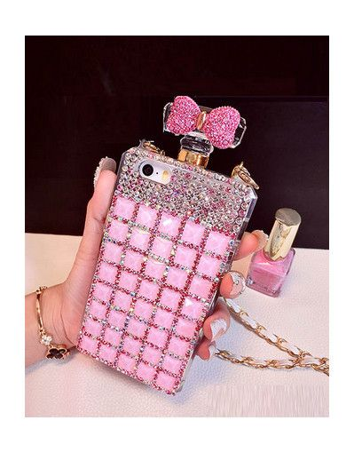 Yes or no? * www.awesomeworld.co.uk *  cover case perfume bottle chanel miss dior prada bow lace rhinestones diamonds pink chain iphone 4 4s 5 5s 6 6s 6 plus