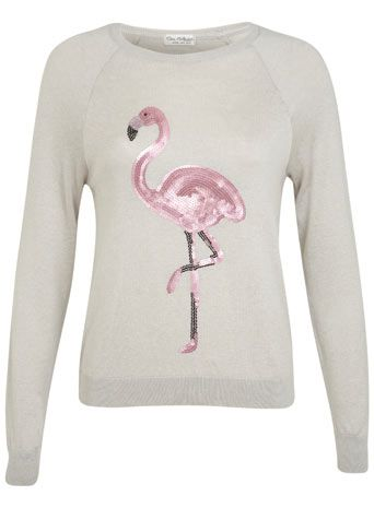 pullover mit pailletten flamingo fashion my warderobe. Black Bedroom Furniture Sets. Home Design Ideas