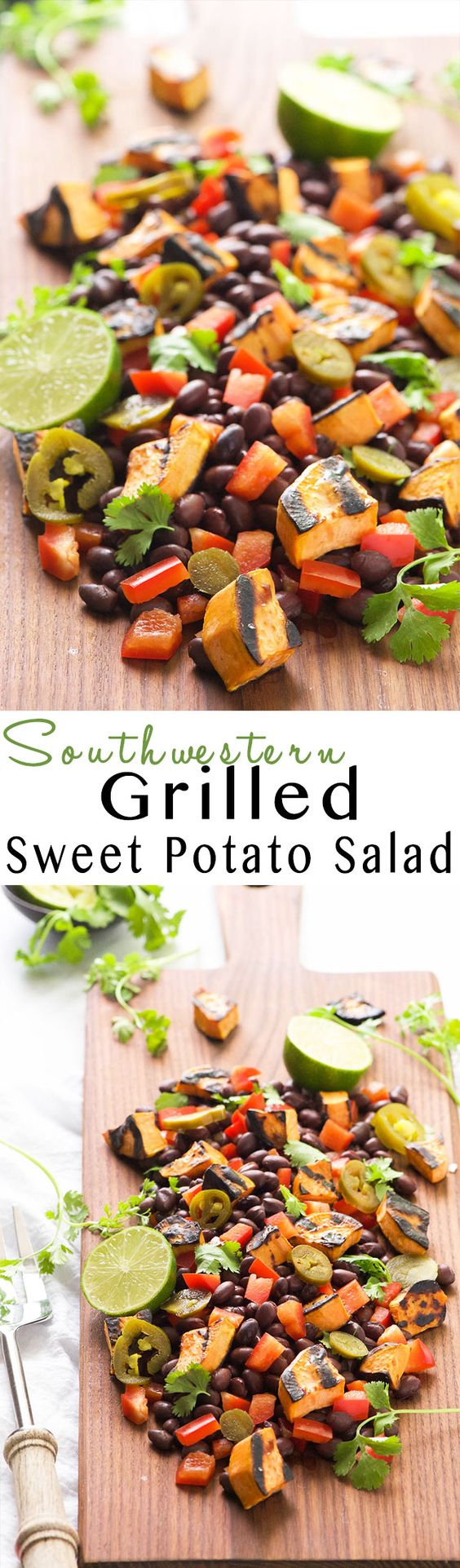 Grilled Sweet Potato Salad! Sweet potatoes caramelize on the grill ...