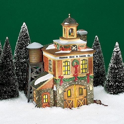 Franklin Christmas 2021 Franklin Hook Ladder Co In 2021 Department 56 Christmas Village Christmas Villages Christmas Village