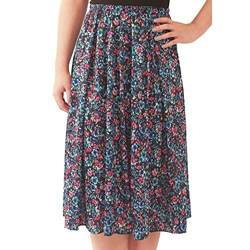 Fashion Friendly Ladies Floral Elasticated Skirt 8 36 S 10 12