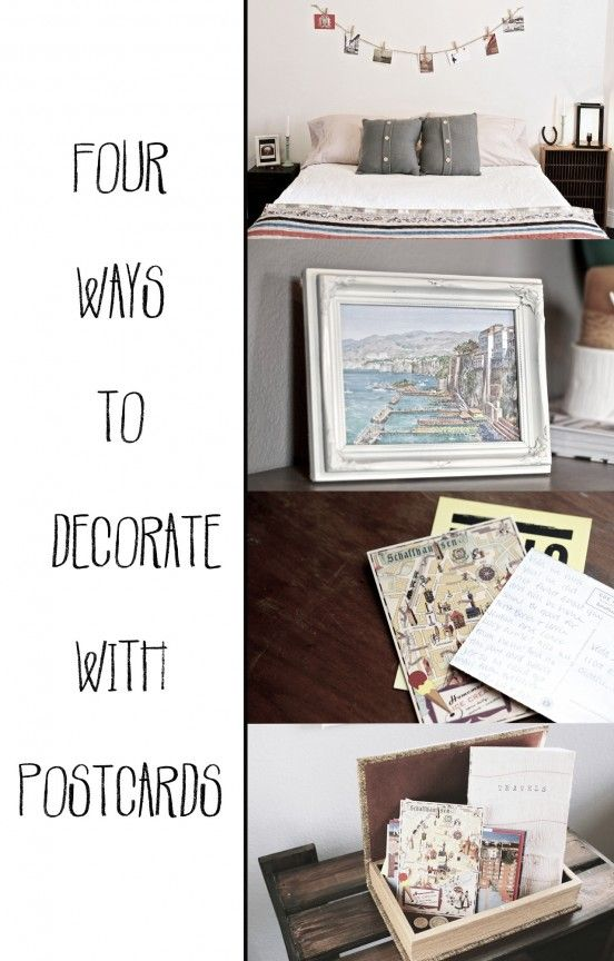 Four Ways To Decorate With Postcards With Images Postcard