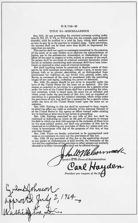 Celebrating African Heritage Month - The Civil Rights Act of 1964 (page 3)