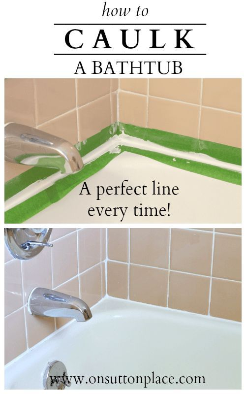 How to caulk a bathtub money home improvements and for Fast drying bathroom caulk