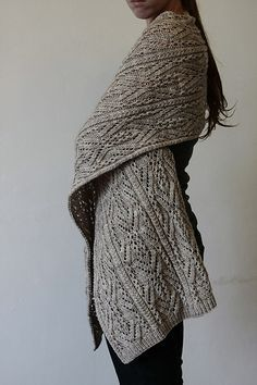 Xale em tricô rendado