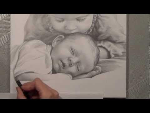 Kinder – Bleistiftportrait. Realistisch Zeichnen. speed painting.Portrait drawing. Painting. | zeichnen lernen