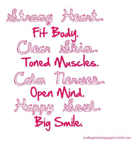 reasons to exercise #thinspiration