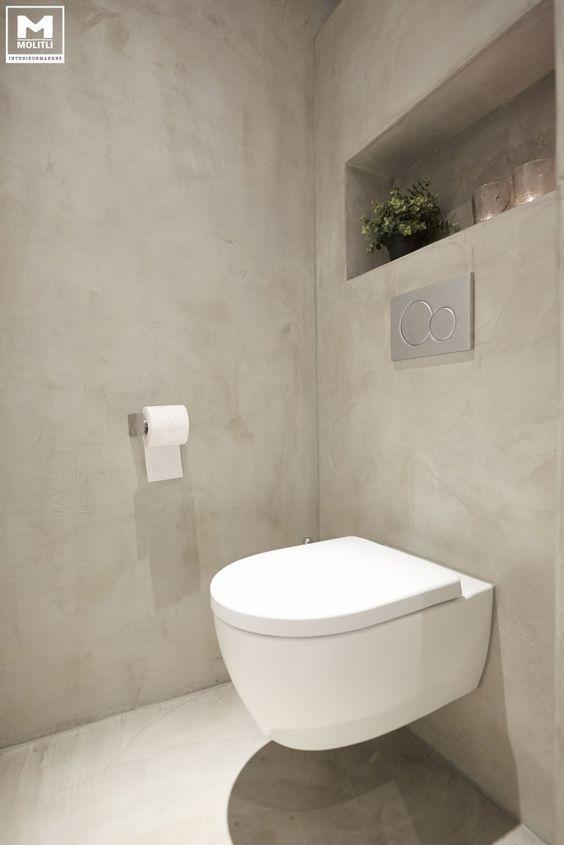 Zwarte Wasbak Badkamer ~ Badkamer betonstuc MOLITLI ? BADKAMERS  Pinterest  Toiletten