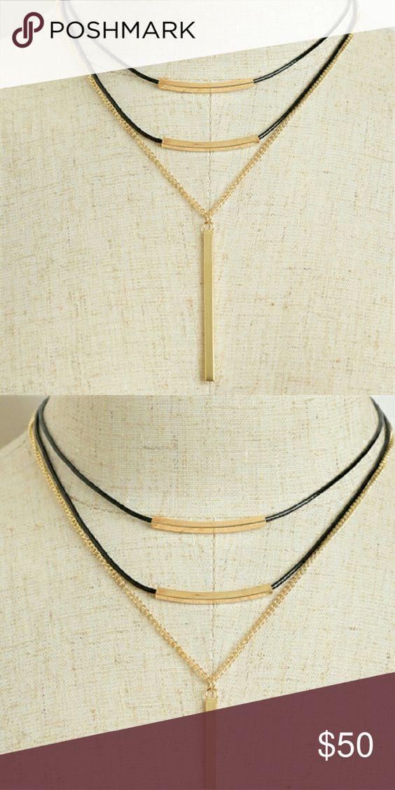 """NWT CHAIN TASSEL DROP NECKLACES Description: LENGTH: 5.5"""" angelochekk boutique  Jewelry Necklaces"""