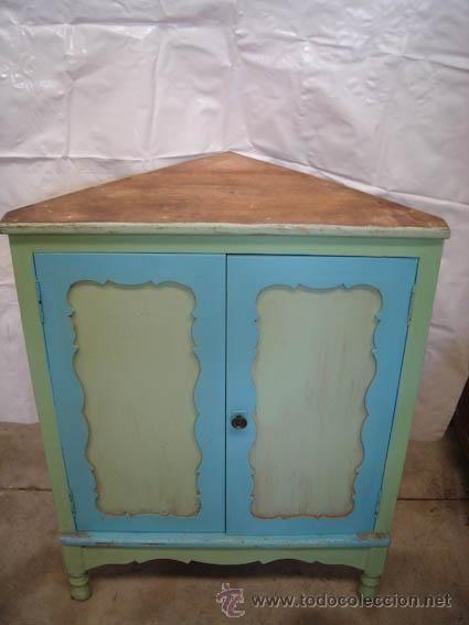 Armario Retro Pequeno ~ Pequeño armario rinconero de madera, decapado puede quedar muy bonito 75 u20ac Vintage