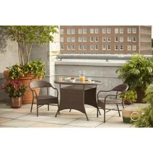 Hampton Bay Youngstown 3-Piece All-Weather Wicker Patio Bistro Set 66-11291 at The Home Depot - Mobile