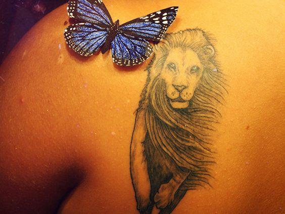 Small lion tatoos for women leo tattoos 25 arresting leo for Lion tattoos for females