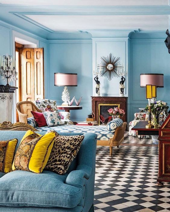 Eye Candy Pinterest Favorites This Week The English Room Blue Living Room Decor Trendy Living Rooms Living Room Decor