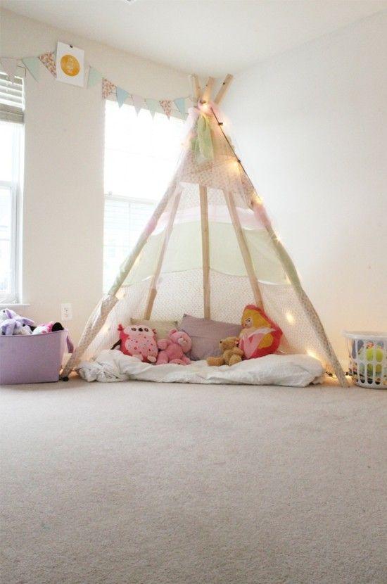 Tipi Zelt selber bauen und für eine private Kinderspielecke