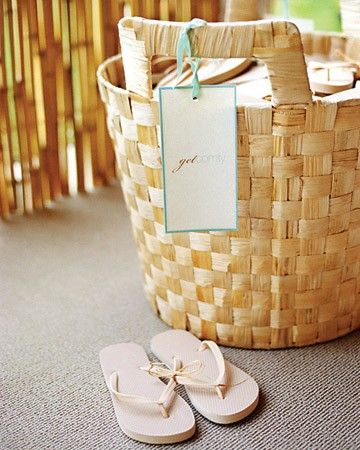 Flip flops as wedding favors for beach theme wedding or any wedding. http://media-cache0.pinterest.com/upload/200832464602545383_equjJyFm_f.jpg rmccurtain wedding favor ideas