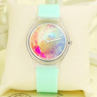 Galaxy Transparent Waterproof Watch, Couple Wristwatch,Student Watch