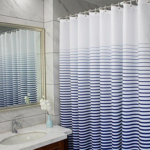 Ufaitheart 36 X 78 Inch Long Shower Curtain Stripe Pattern