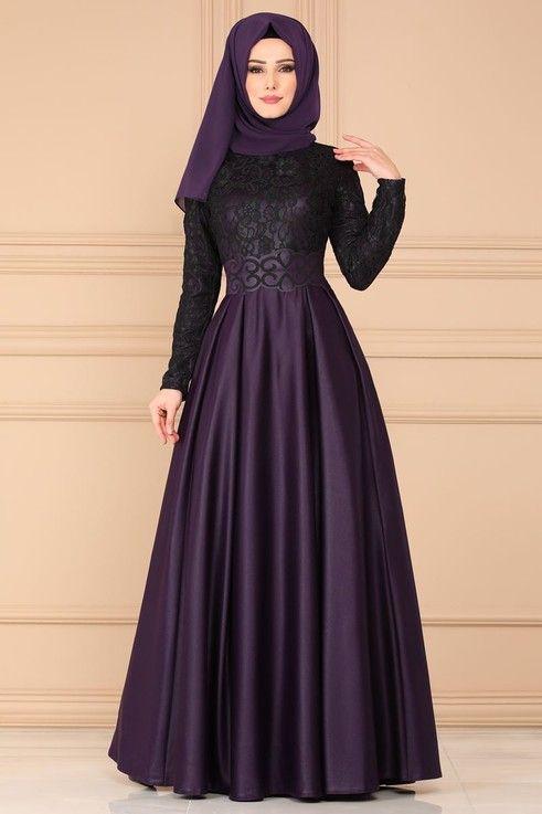 Modaselvim Abiye Flok Kemerli Abiye Asm2133 Mor The Dress Aksamustu Giysileri Elbiseler