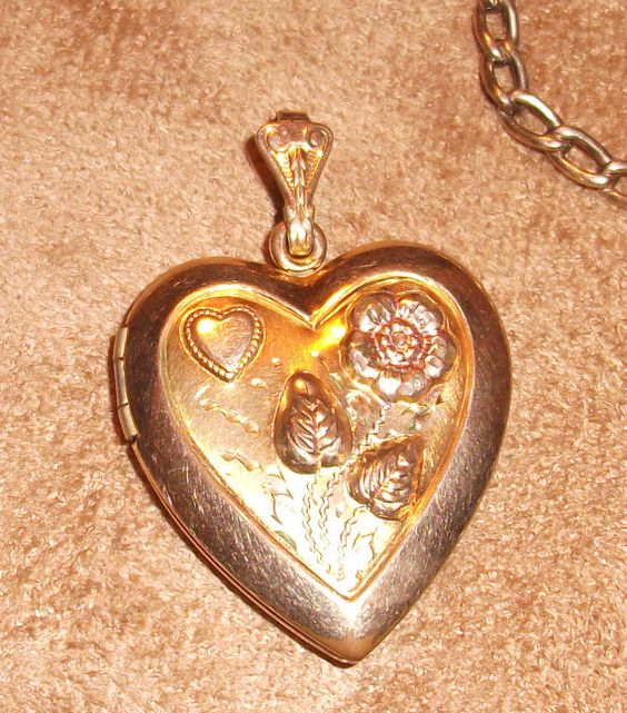Vintage Gold Filled WH Floral Locket Pendant by izzyboo on Etsy, $15.00
