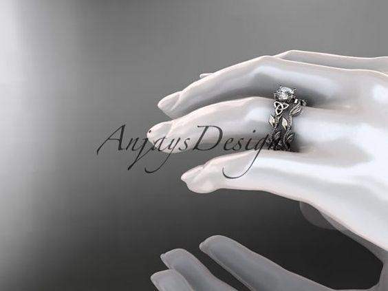 bague de mariage noeud celtique Trinité diamant par anjaysdesigns