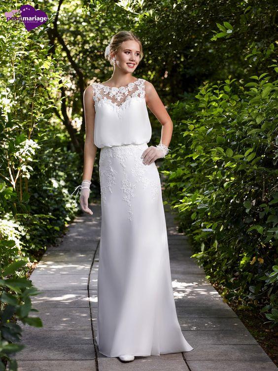 Robe de mariée Anna, robe de mariée tendance, robe de mariage dos effet tatoo…