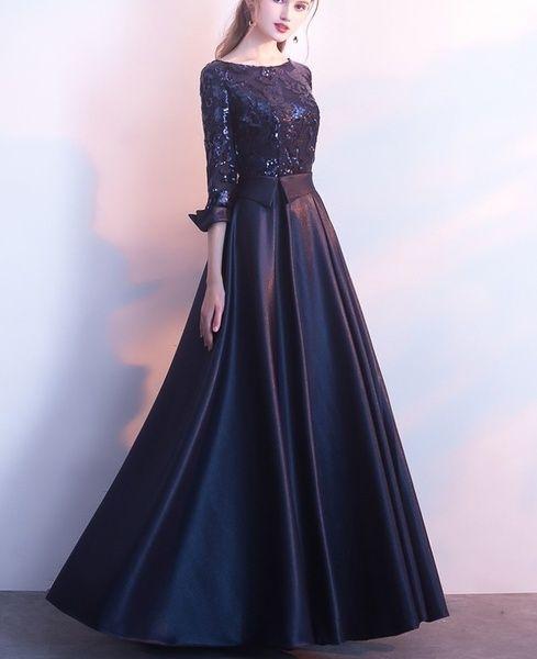 Sequins Evening Dress Banquet Elegant Floor Length Knee Length Prom Dress Evening Dress Midi Dress Party Dress Annual Meeting Dress Wish Pakaian Jelita Model Baju Wanita Model Pakaian Wanita