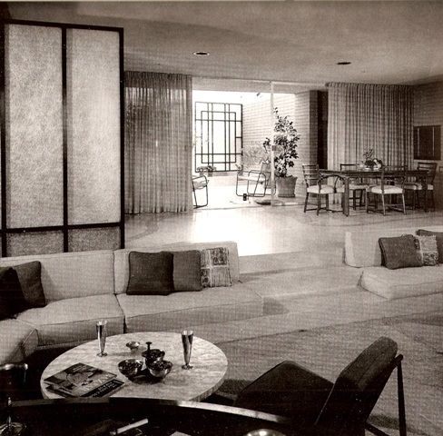 Mid-century living room - gorgeous! Philmer J. Ellerbroek, architect.