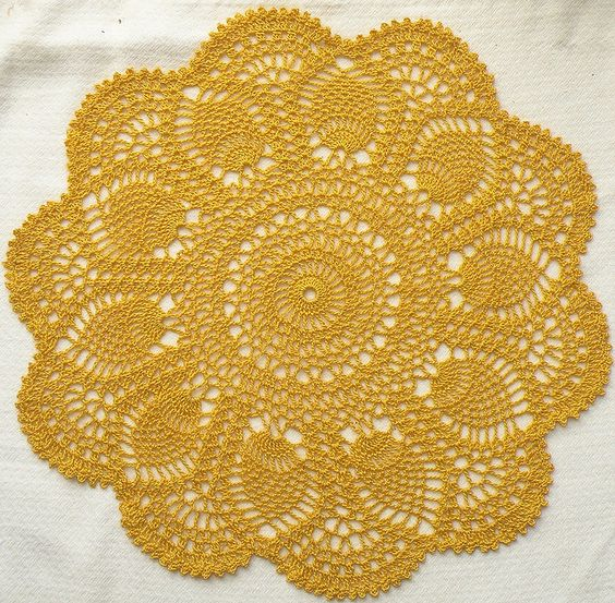 Crochet doily pattern, free from Ravelry