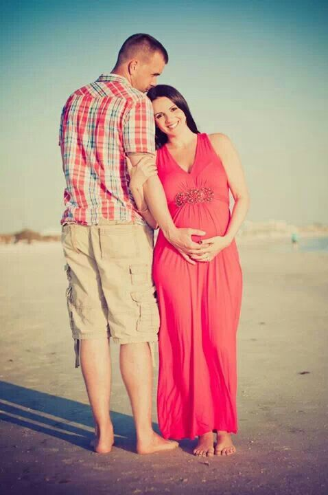 Beach maternity photo's