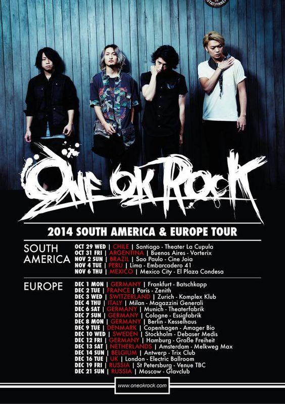 One OK Rock European Tour 2014!!! I'll see them in Paris yeaaah