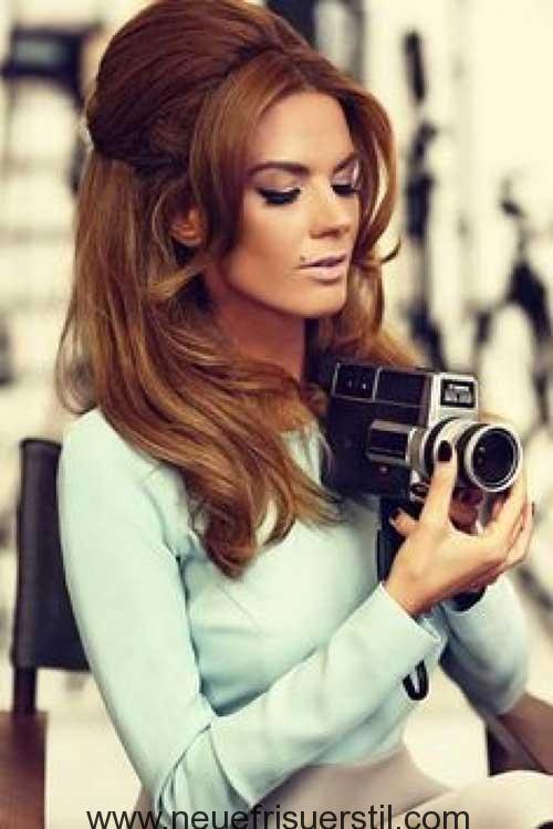 Halbe Hochsteckfrisur Stile Die Alle Stilvollen Damen Die Sehen Sollten 60er Jahre Frisuren Vintage Frisuren Frisuren