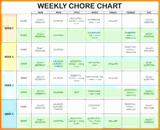 Chores Template Excel from i.pinimg.com