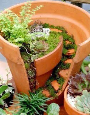 Relasé: Giardino: come riutilizzare un vaso di terracotta rotto? - ispirazioni
