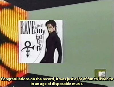 Prince on TRL in 1999. Very tense and awkward moment.