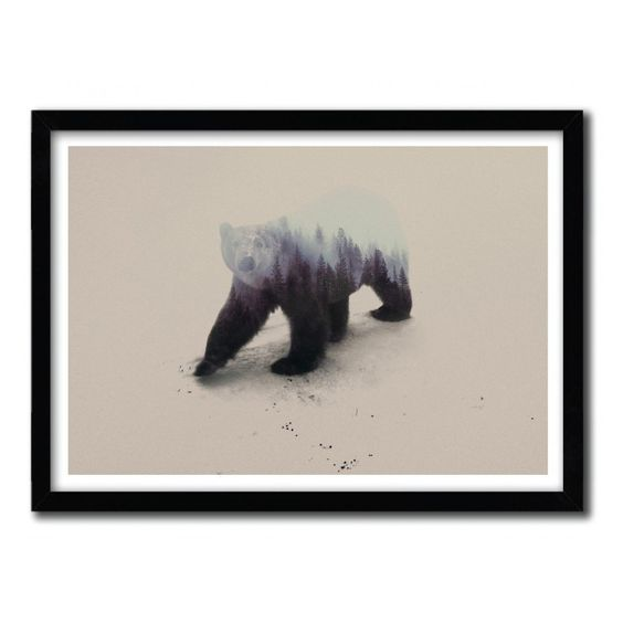 Fancy - Polar Bear Print by Andreas Lie