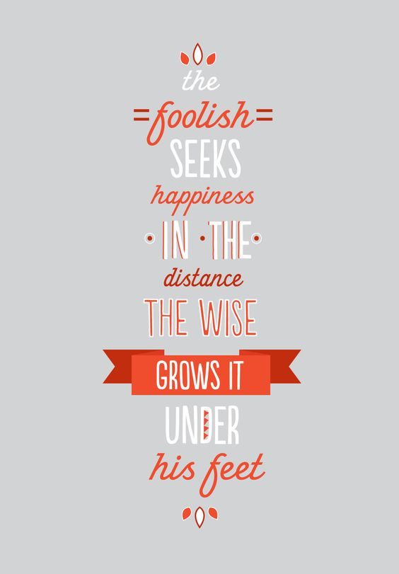 ... sow seeds ...