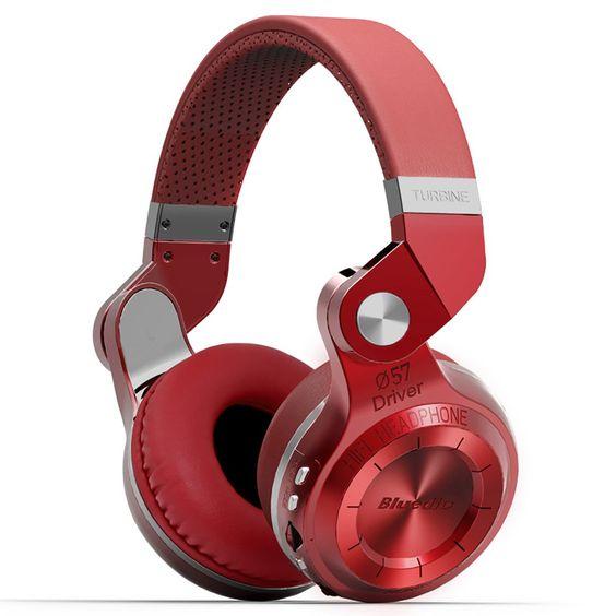 Amazon.com: Bluedio T2 Plus Turbine Wireless Bluetooth Headphones with Mic/Micro SD Card Slot/FM Radio (Black): Electronics