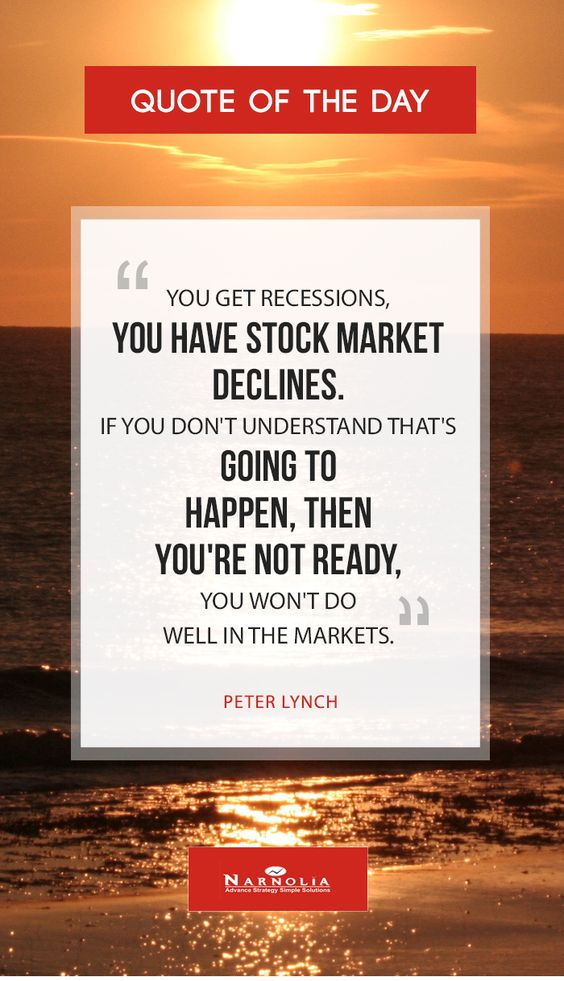 """T Stock Quote Entrancing Quote Of The """"you Get Recessions You Have Stock Market Declines"""