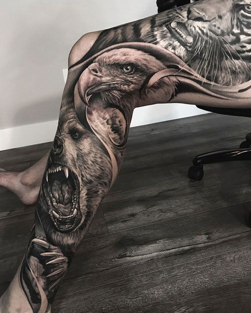 51 Best Leg Tattoos For Men Cool Designs Ideas 2019 Guide In 2020 Leg Tattoo Men Best Leg Tattoos Best Tattoo Designs