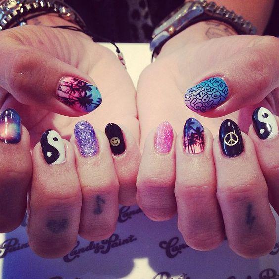 Coachella Nail Art: Music Festival Nails, Music Festivals And Coachella On