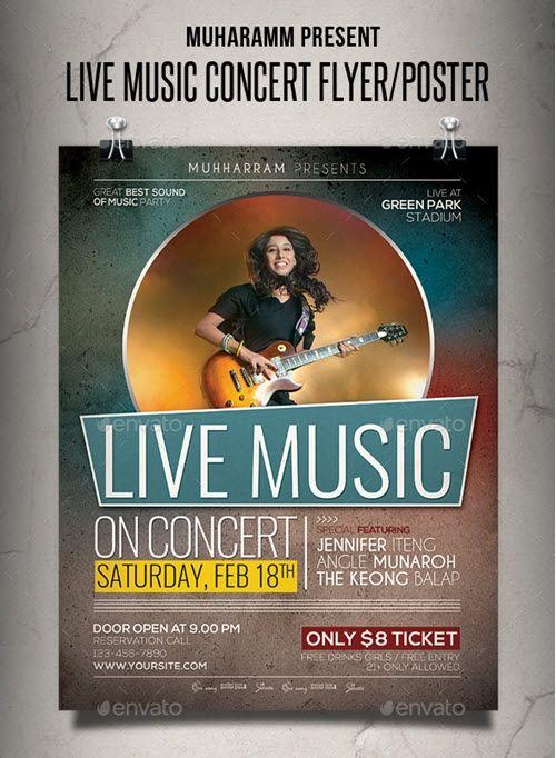 Concert Flyer Templates Free Download