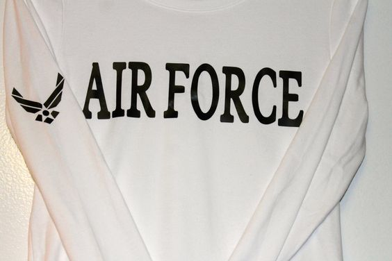 Air Force long sleeve shirt by AmyJaneBeauty on Etsy