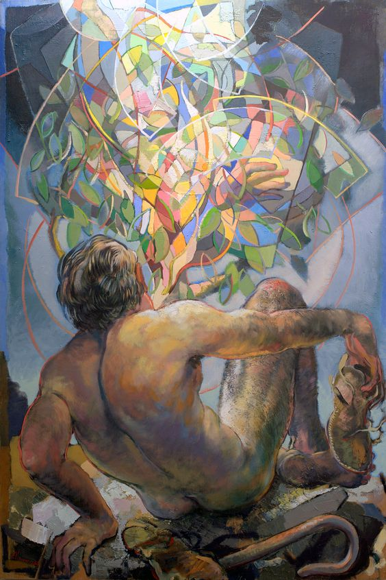 Moses and the Burning Bush - oil on panel - 6 | Painting ...