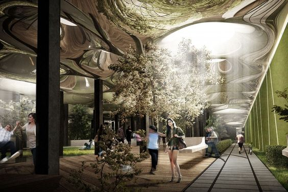 New York's Delancey Underground project aims to convert an unused trolley terminal beneath Delancey Street into an extraordinary subterranean public park. Beautiful concept!