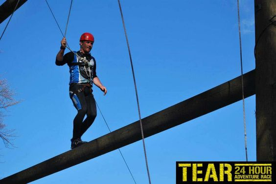 Its all about balance on the Rope section of the TEAR Race 2013 organised by TotalExperience.ie!